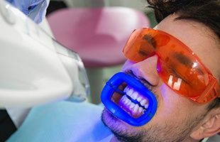 Man receving Zoom teeth whitening